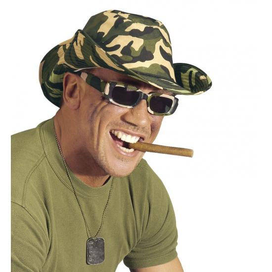 Image of Rechthoekige camouflage brillen