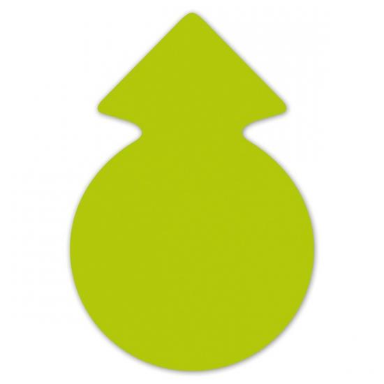 Image of Reclame cirkel pijlen neongroen 23 cm 20 x