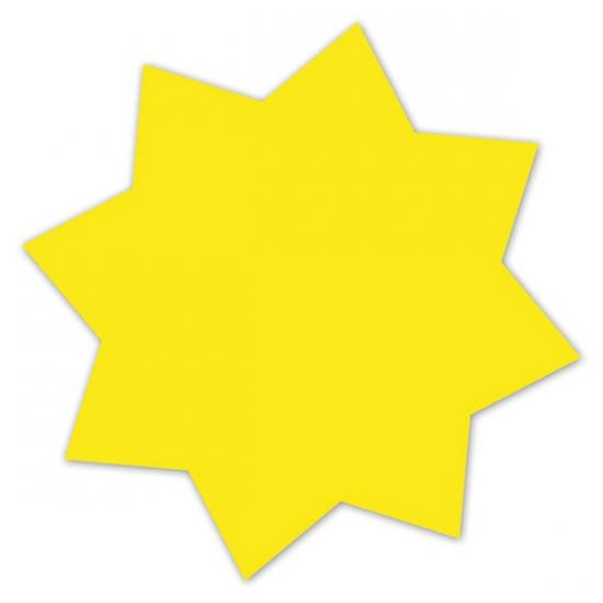 Image of Reclame sterren neongeel 18 cm 20 x