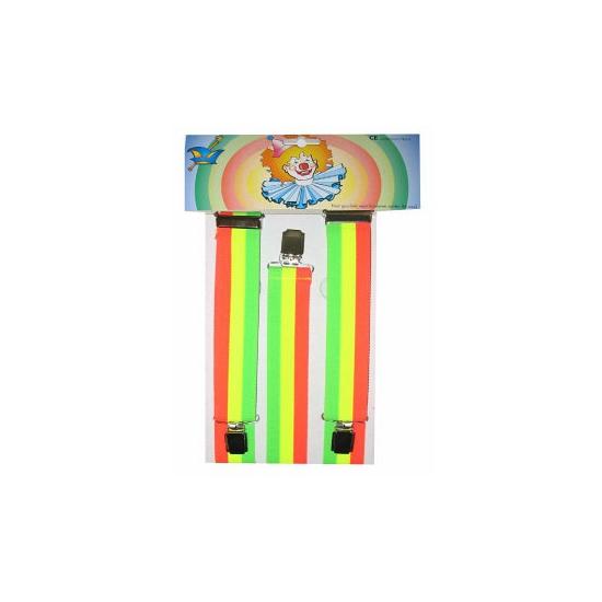 Image of Regenboog bretels fluoriserend