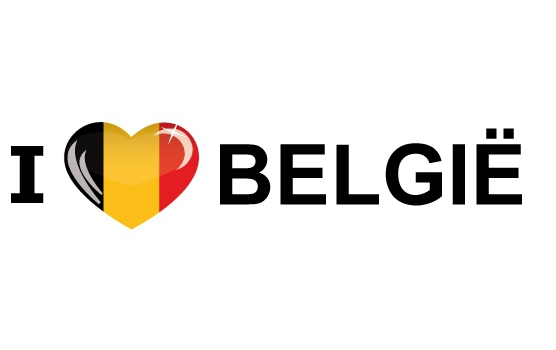 Image of Reis sticker I Love Belgie