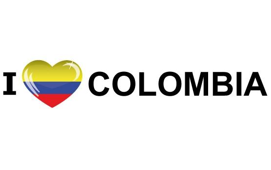 Reis sticker I Love Colombia