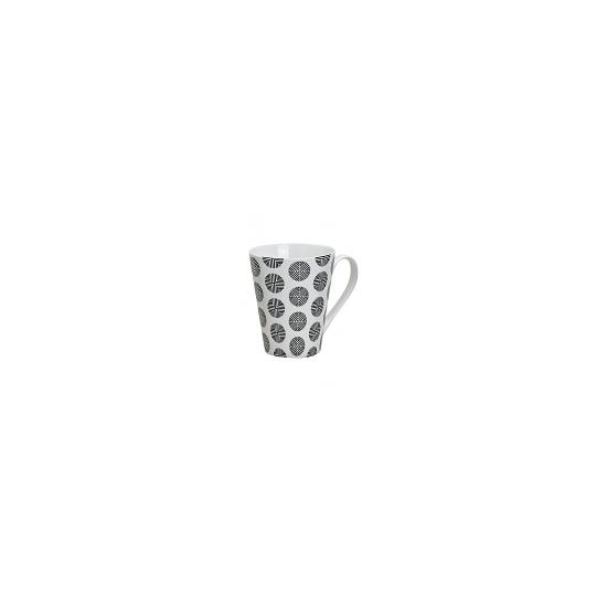 Image of Retro koffie mok rondjes wit 250 ml