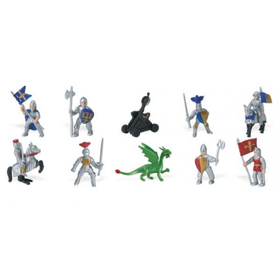 Image of Ridders en draken van plastic