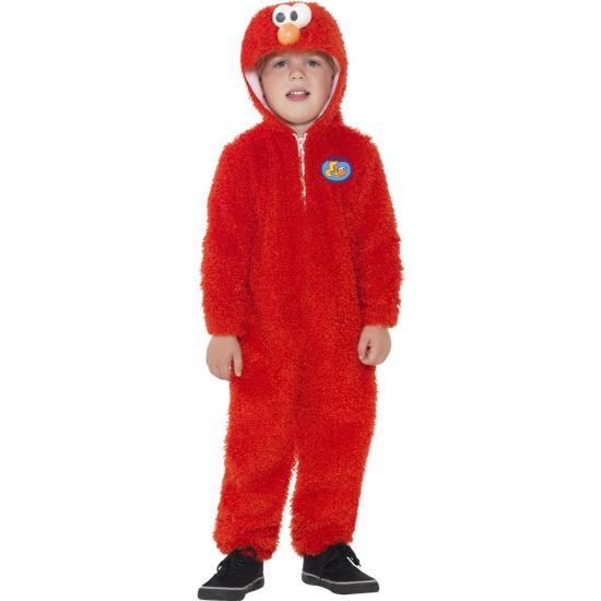 Image of Rode Elmo jumpsuit voor kinderen
