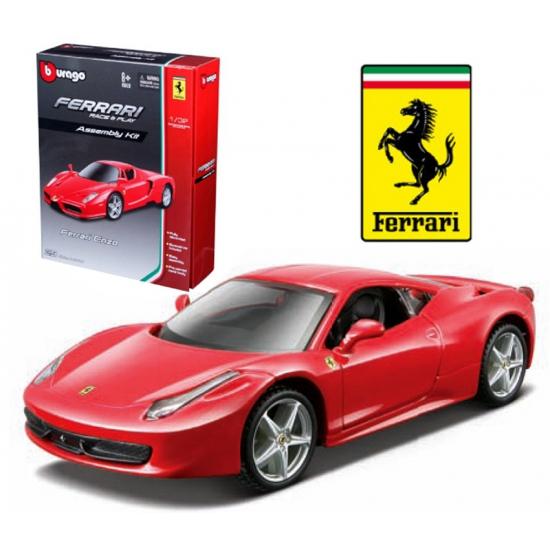 Image of Rode Ferrari 458 modelauto