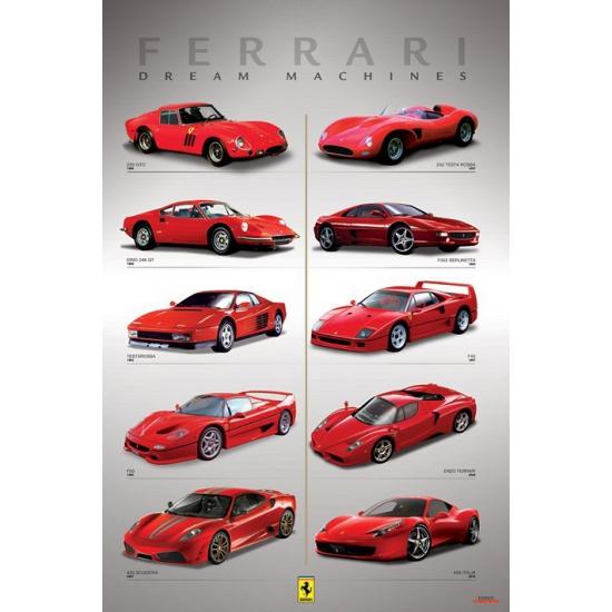 Image of Rode Ferrari poster