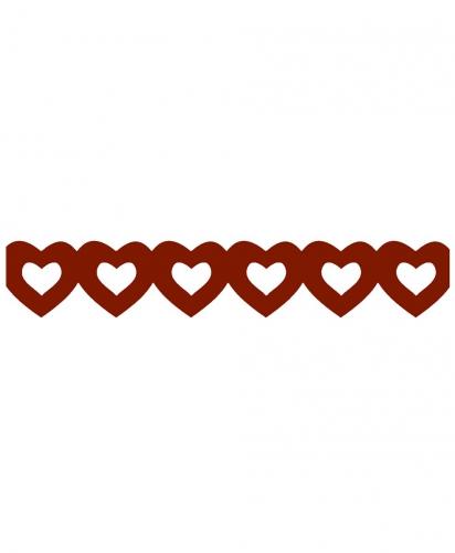 Image of Rode hartjes slinger van papier 3 meter
