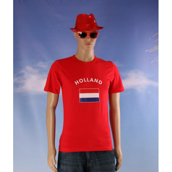 Image of Rode heren t-shirts Holland