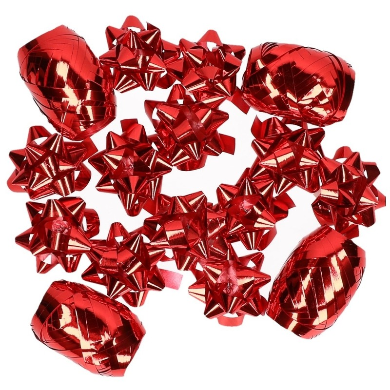 Image of Rode kerstcadeau versiering set