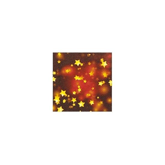 Image of Rode servetten met gouden sterretjes