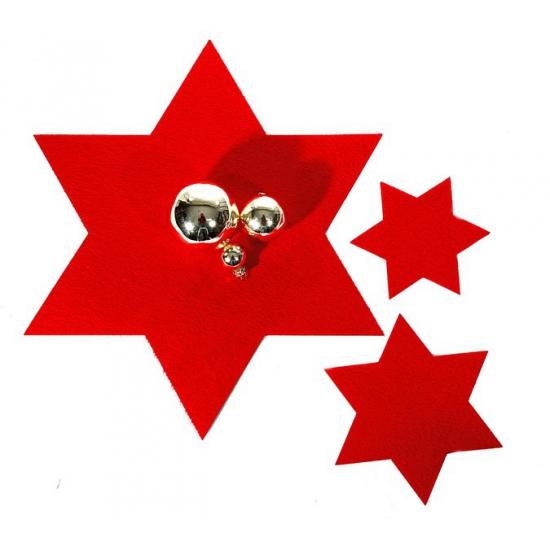 Image of Rode ster onderzetter 15 cm