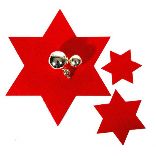 Image of Rode ster onderzetter 40 cm