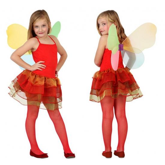Rode vlinder jurken voor kinderen