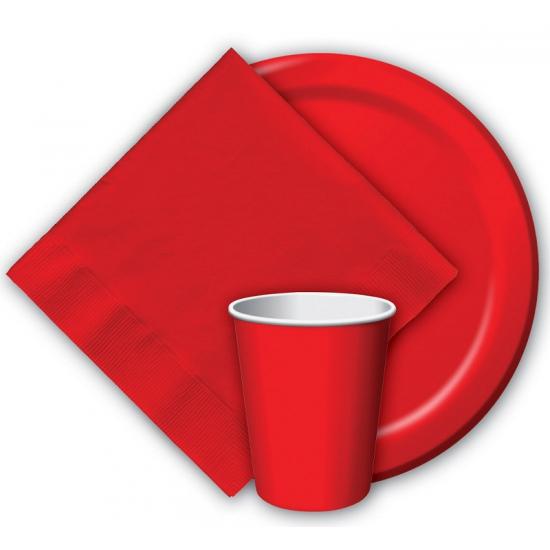 Image of Rode weggooi bekertjes 8 stuks