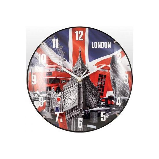 Image of Ronde klok Engelse vlag