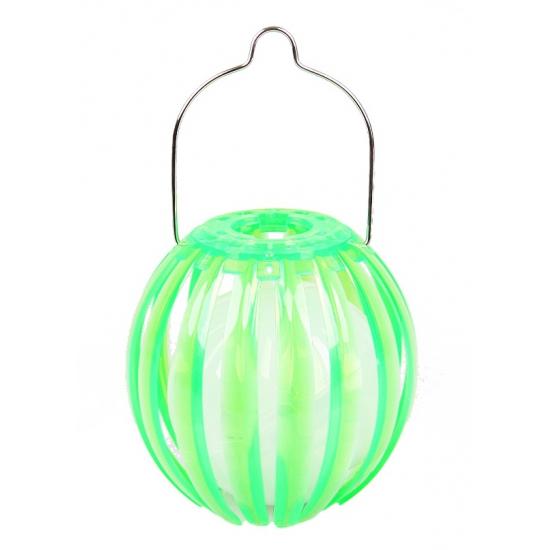 Image of Ronde solar lantaarn groen 11 cm