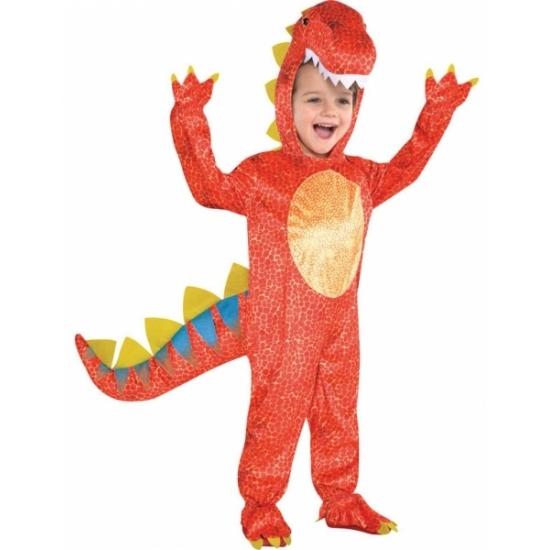 Image of Rood dinosaurus kostuum voor kids