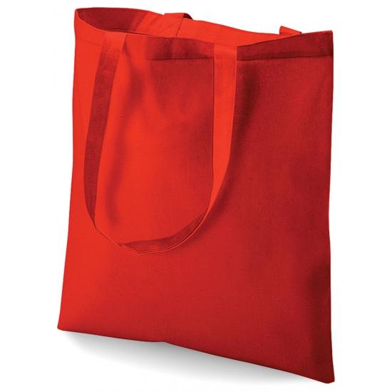 Image of Rood katoenen tasje