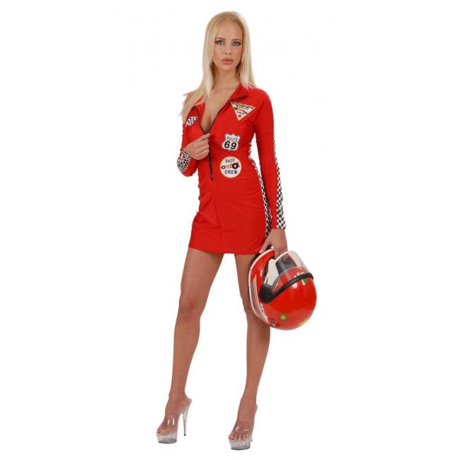 Image of Rood pitspoezen kostuum voor dames
