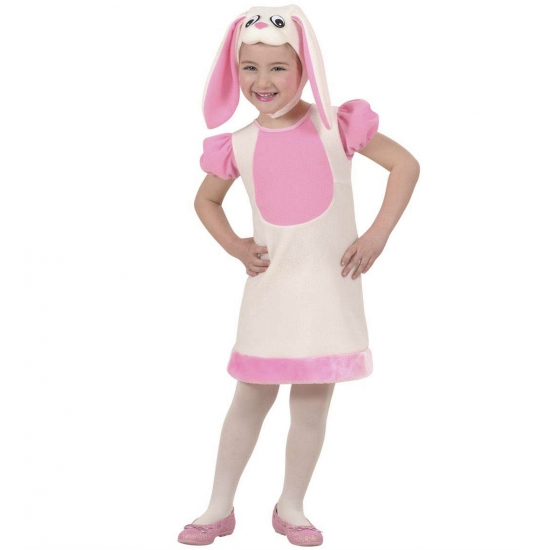 Image of Roze konijntjes jurkje voor meisjes