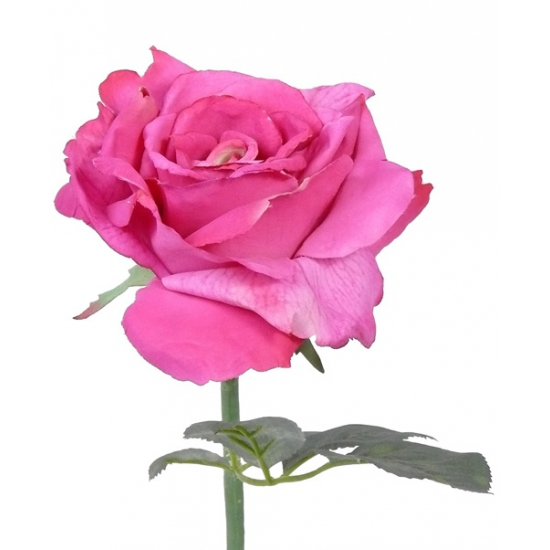 Image of Roze kunstroos 31 cm