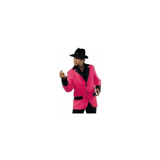 Image of Roze met zwart colbert voor heren