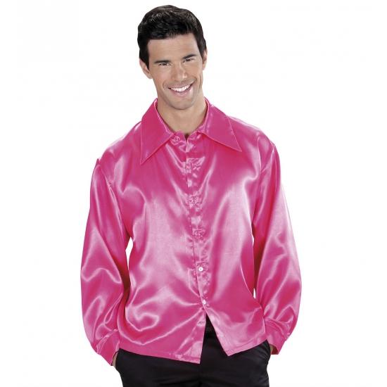 Image of Roze satijnen blouse