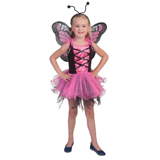 Roze vlinder prinsessen jurkje