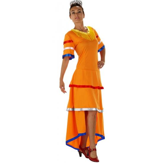 Samba jurk oranje voor dames