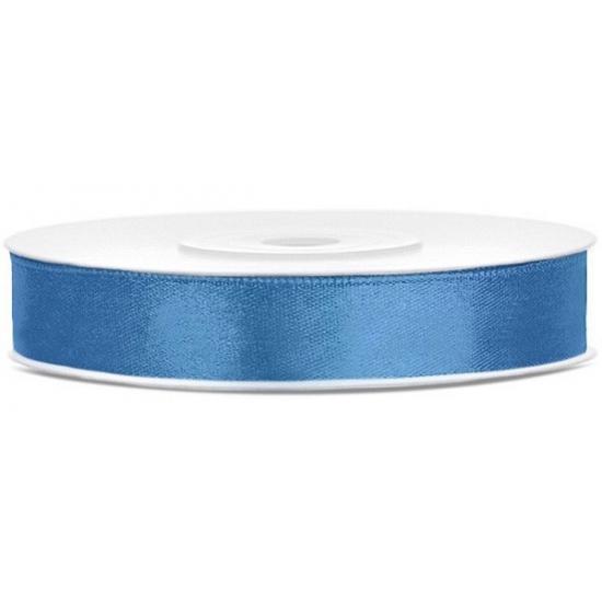 Image of Satijn sierlint blauw 12 mm