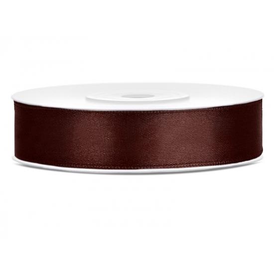 Image of Satijn sierlint bruin 12 mm