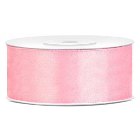 Image of Satijn sierlint lichtroze 25 mm