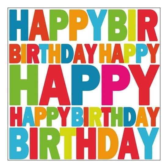 Image of Servetjes happy birthday 20x