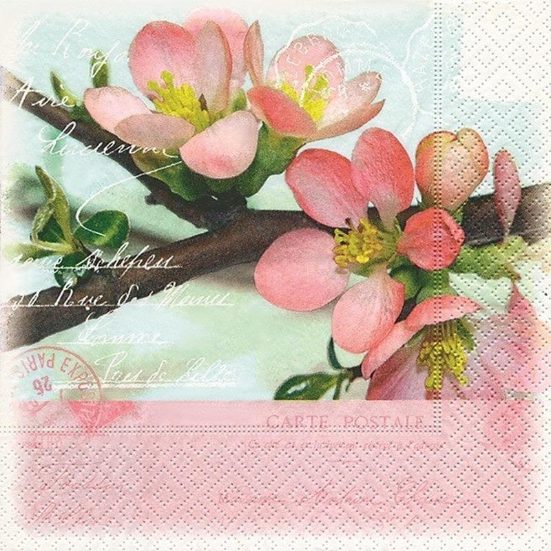 Image of Servetten appelbloesem 20 stuks