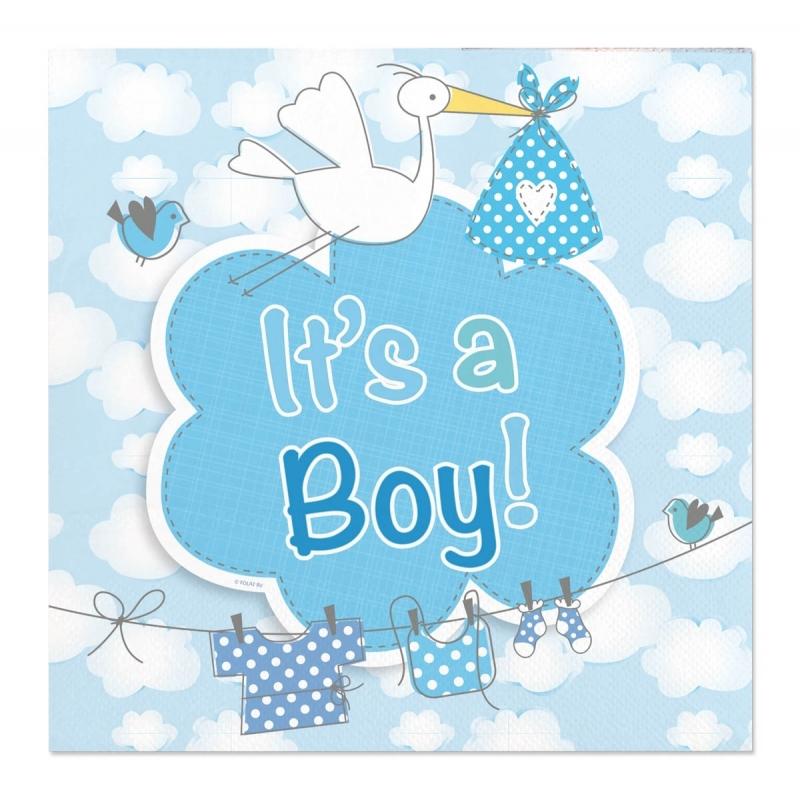 Image of Servetten geboorte jongen 20 stuks