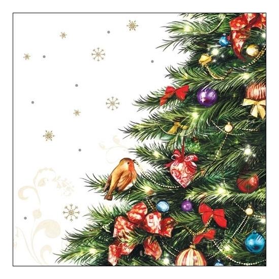 Image of Servetten met kerstboom 20 stuks