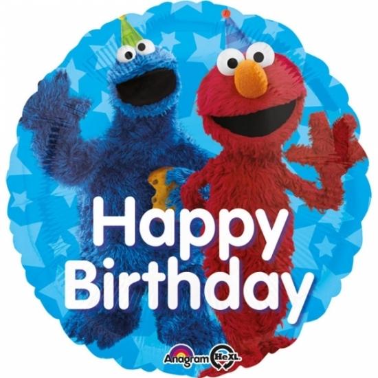 Image of Sesamstraat verjaardags folie ballon 43cm