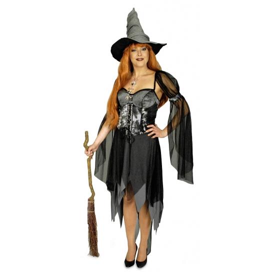 Image of Sexy heksen kostuum zwart voor dames