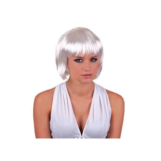 Image of Sexy witte damespruik met kort haar