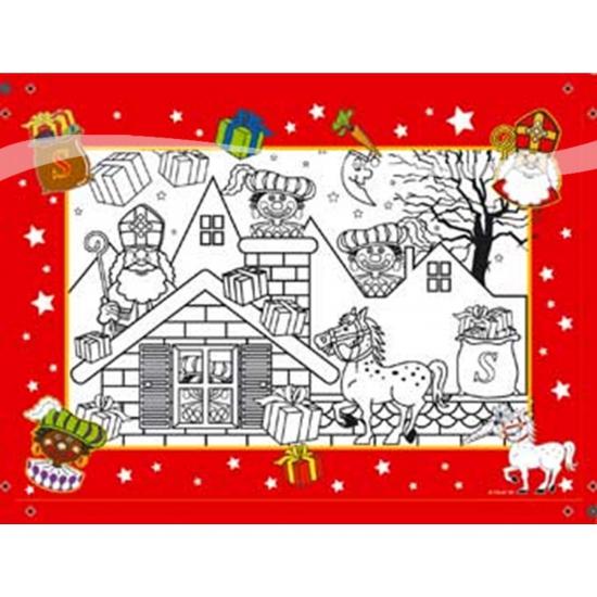 Sinterklaas kleurplaat 6 stuks