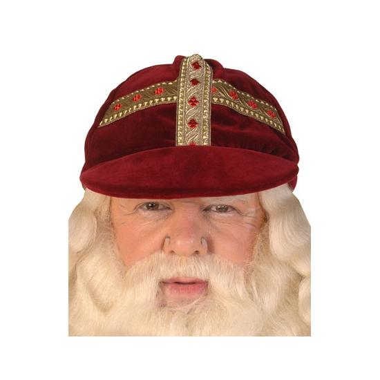 Image of Sinterklaas Luxe Sinterklaas werkmijter fluweel