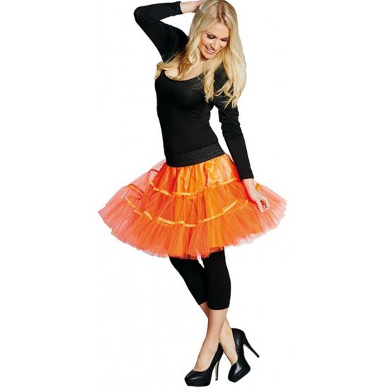 Sixties onderrok neon oranje tule