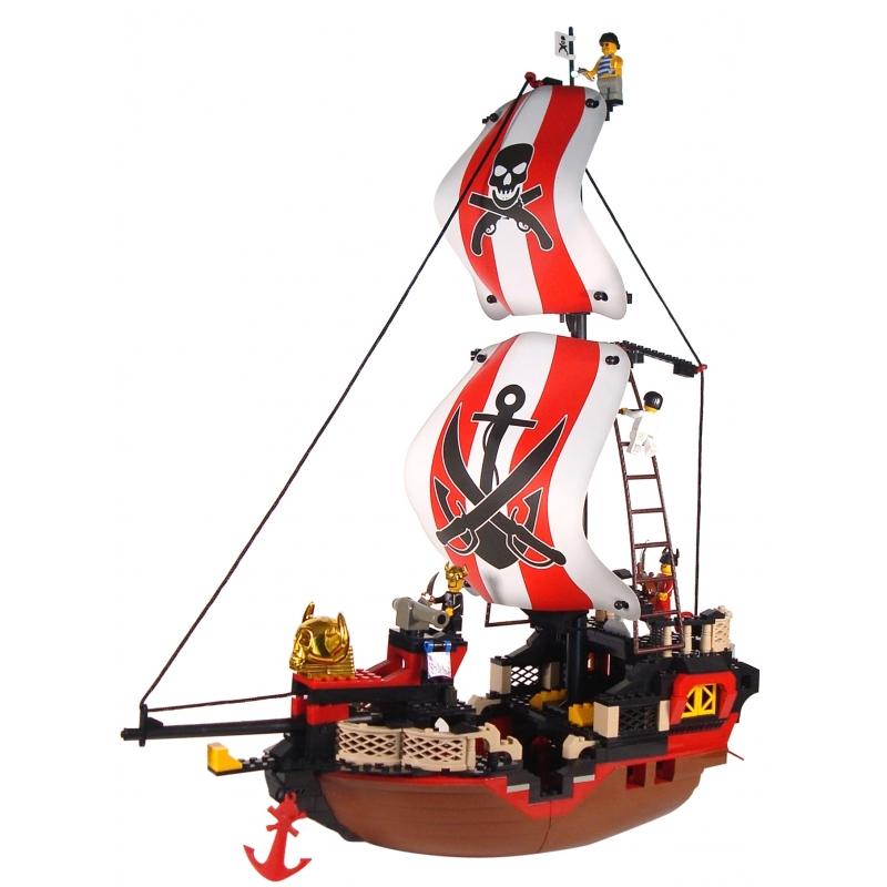 Image of Sluban grote piratenschepen speelgoed steentjes