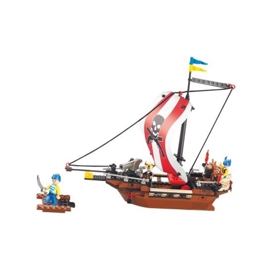 Image of Sluban piratenschepen speelgoed steentjes
