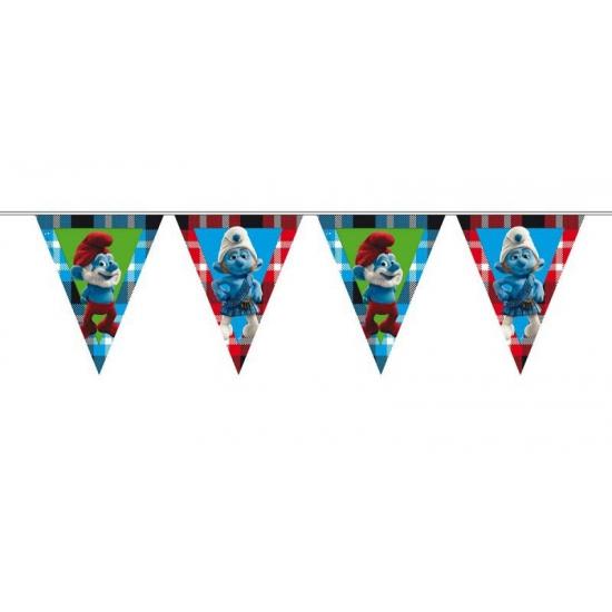 Image of Smurfen thema vlaggenlijnen