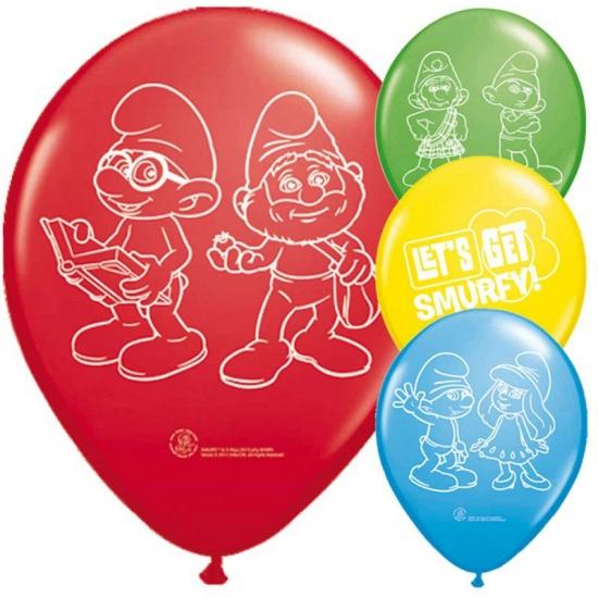 Image of Smurfen versiering ballonnen