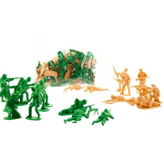 Image of Soldaten speelpoppetjes 70 stuks