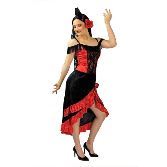 Image of Spaanse dansjurk inclusief hoofdsluier