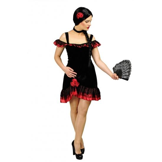 Image of Spaanse dansjurk kort met accessoires